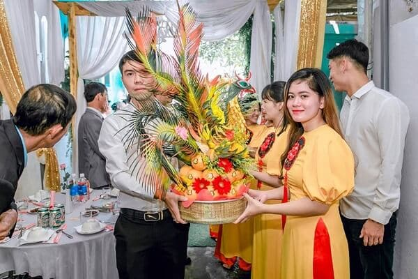Mâm trái cây ngày cưới